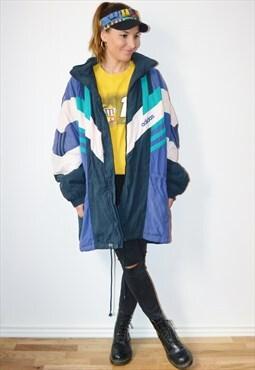 80s ADIDAS Trefoil Vintage Puffer Jacket
