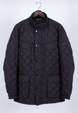 Vintage Grey Charcoal Quilted Coat Barbour .