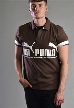 2000s Puma Repeat Logo Polo Shirt