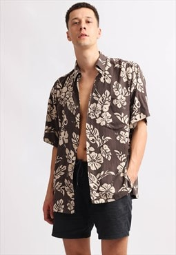 Vintage Ono & Company abstract print shirt