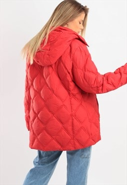 Vintage Tommy Hilfiger Puffer Jacket Red