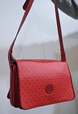 80s Vintage RARE FENDI monogram red bag