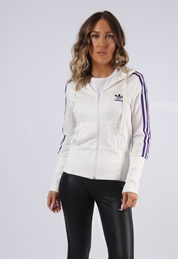 ADIDAS Hooded Track Suit Top Fitted Jacket UK 10 (K9EF)