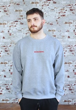 Weekending embroidery Grey Sweatshirt