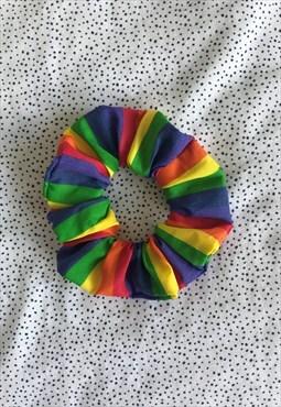 Handmade Rainbow Scrunchie - LGBT Youth Scotland
