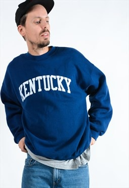 Vintage Blue Sweatshirt With Kentucky Logo