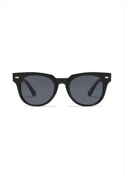 Jamie Circle Retro Sunglasses Black