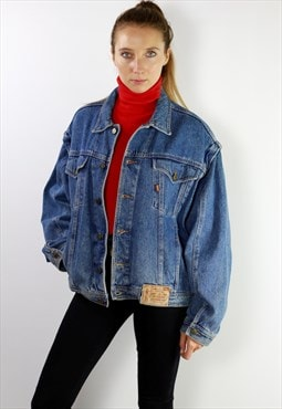 Vintage Oversize Denim Jacket Blue