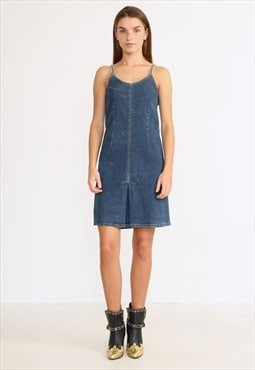 Vintage Blue MAVI Sleeveless Denim Mini Dress