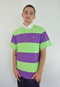 RL Striped Purple / Green Polo Shirt