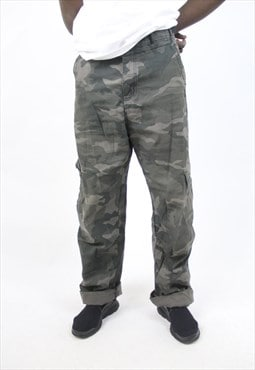 Vintage Camo Grey 90's Trousers