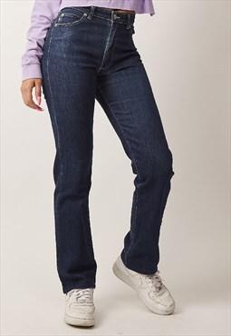 Rare Vintage 90's Burberry indigo high waisted jeans