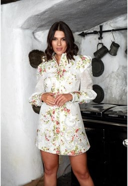 Dear Rosie Embroidered Shirt Dress