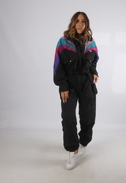 Vintage ETIREL Full Ski Suit Snow Sports UK L 14 (93S)