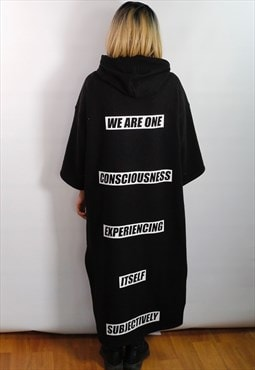 Oversized unisex Bill Hicks quote long top