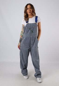 Vintage Denim Striped Dungarees BICH REWORKED UK 12 (FACS)