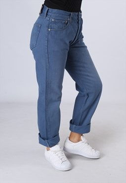 LEVIS 501's Denim Jeans Boyfriend High Waisted UK 12 (DKEI)
