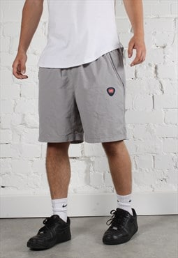 Vintage Nike Shorts in Grey w/ Spell Out Logo