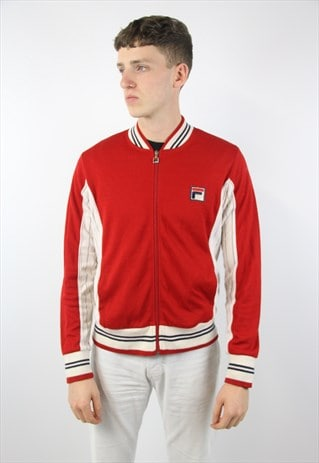 VINTAGE FILA RED CARDIGAN