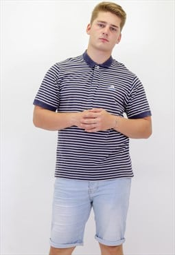 Vintage Adidas Striped Polo Shirt