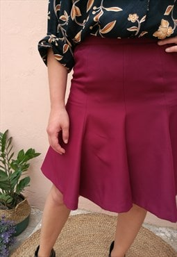Vintage Y2K High Waisted Ruffle Mini Burgundy Skirt