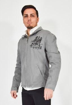guess grey jacket