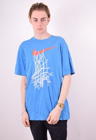 NIKE MENS VINTAGE T-SHIRT TOP XL BLUE 90S