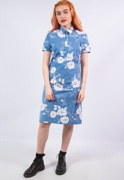 Vintage 90's GANT Blue Floral Shirt Dress