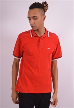 Nike Mens Vintage Polo Shirt Medium Red 90s