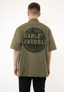 Vintage Oldschool Harley Davidson Cotton Shirt 14404