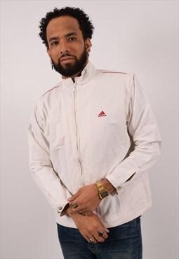 Vintage Adidas Tracksuit Top Jacket White
