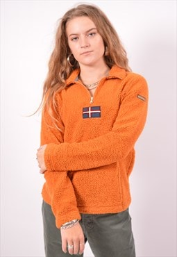 Vintage Napapijri Fleece Jumper Orange