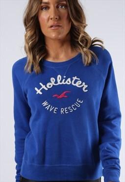 Hollister Sweatshirt Jumper Print Logo UK 10 (AI4C)