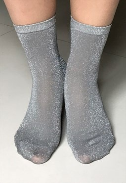 Silver Sheer socks