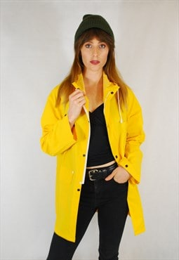 Unisex Yellow Fisherman's Raincoat Mac Jacket