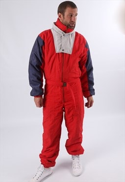 "Vintage ETIREL Full Ski Suit Snow S/M 38"" TALL FIT (51I)"