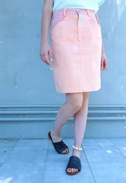 Vintage 90s Denim Pink Skirt