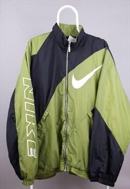 Vintage Nike jacket rare 90s windbreaker black green white