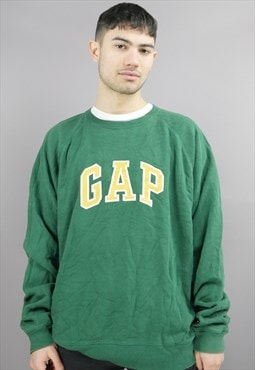 Vintage Gap Sweatshirt in Green with Big Logo