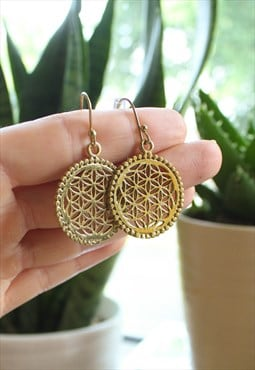 Fairtrade Gold Mandala Earrings