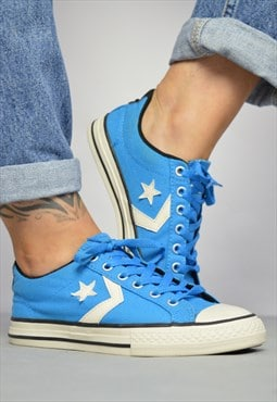 Vintage 90s Converse Blue & White One Star Ox Shoes Retro