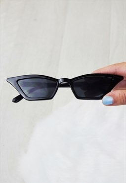 Nevada Black Cat Eye Sunglasses