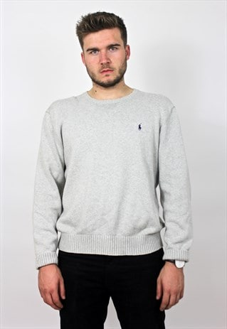 90'S VINTAGE GREY KNIT JUMPER