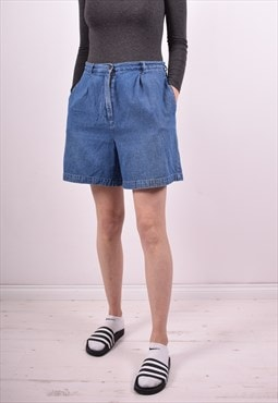 Womens Vintage Denim Shorts W30 Blue 90s