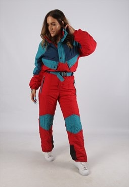 Vintage DECATHLON Full Ski Suit Snow Sports UK 8 XS  (J2O)