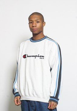 Vintage Champion Sweatshirt White
