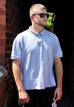 Vintage Grey Polo Ralph Lauren Polo Shirt Large