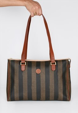 Vintage Fendi Striped Logo Bag