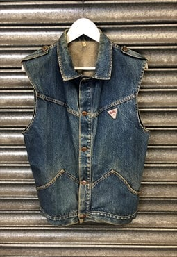 70s Blitz denim gilet jacket