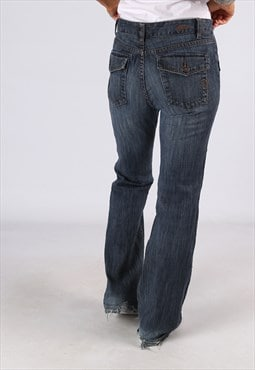 Flared Denim Jeans TOMMY HILFIGER Vintage UK 14  (K9DM)